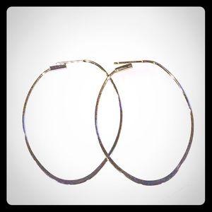 LOFT Silver Oval Hoops